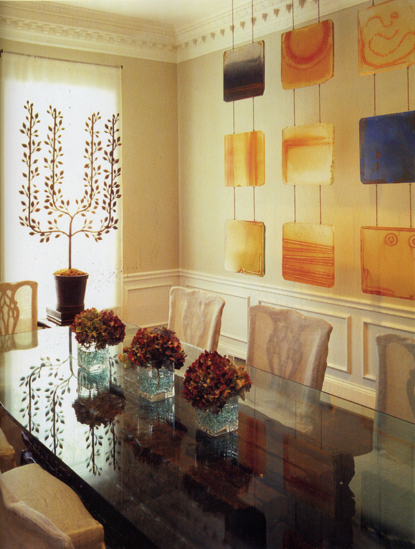 Carrie mcgee installed for Dining room wall murals